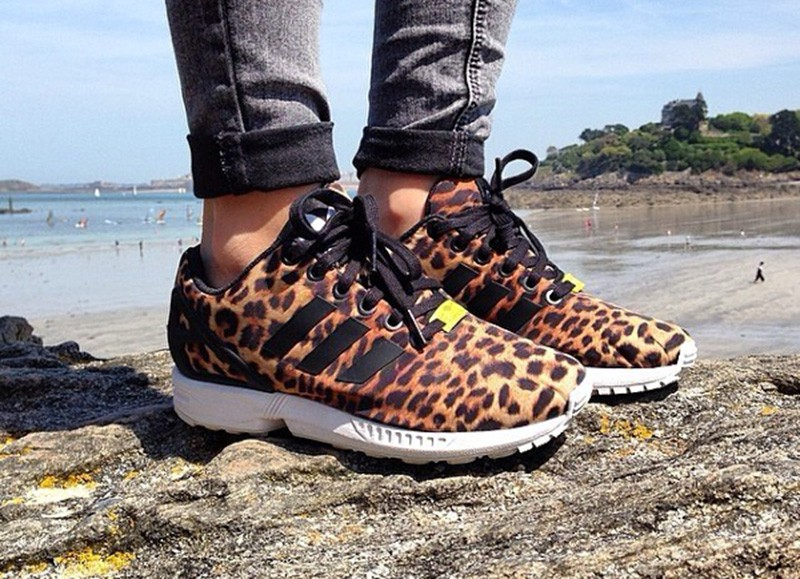 size 40 0cf75 ea424 Adidas Prix Affortable - Adidas ZX Flux Femme Leopard Ju821