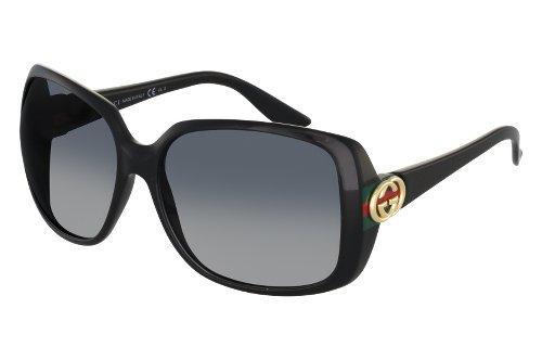 6aeb61568fc Gucci Lunette de soleil Gg 1116 S M1V (9O) BLACK RBBR Garantie 1 prix lunette  gucci pour femme